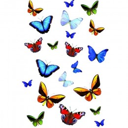 Sticker static decorativ Butterfly 23x34 cm (21 fluturas) cod 34013