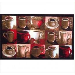 Covoras bucatarie Davo Pro Cups  nylon multicolor dreptunghiular 50x80cm cod 33004