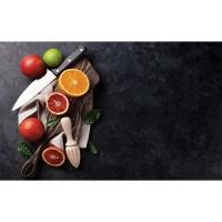 Covoras bucatarie Davo Pro Citrice nylon maro dreptunghiular 67x120cm cod 33021