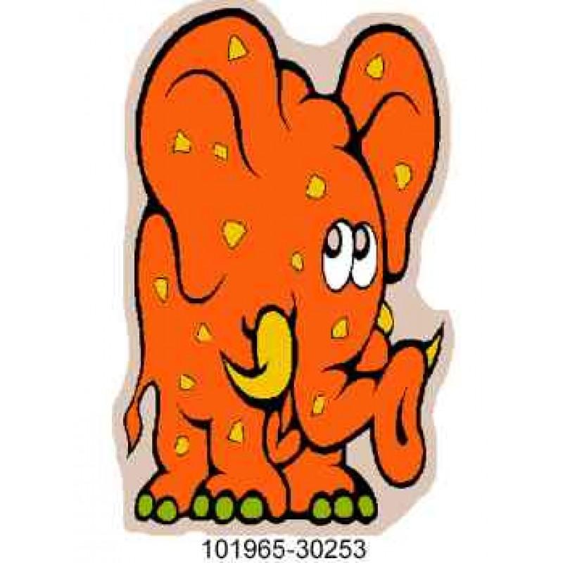 Covoras camera copii Davo Pro Elefant nylon shape portocaliu 50x80cm cod 33019