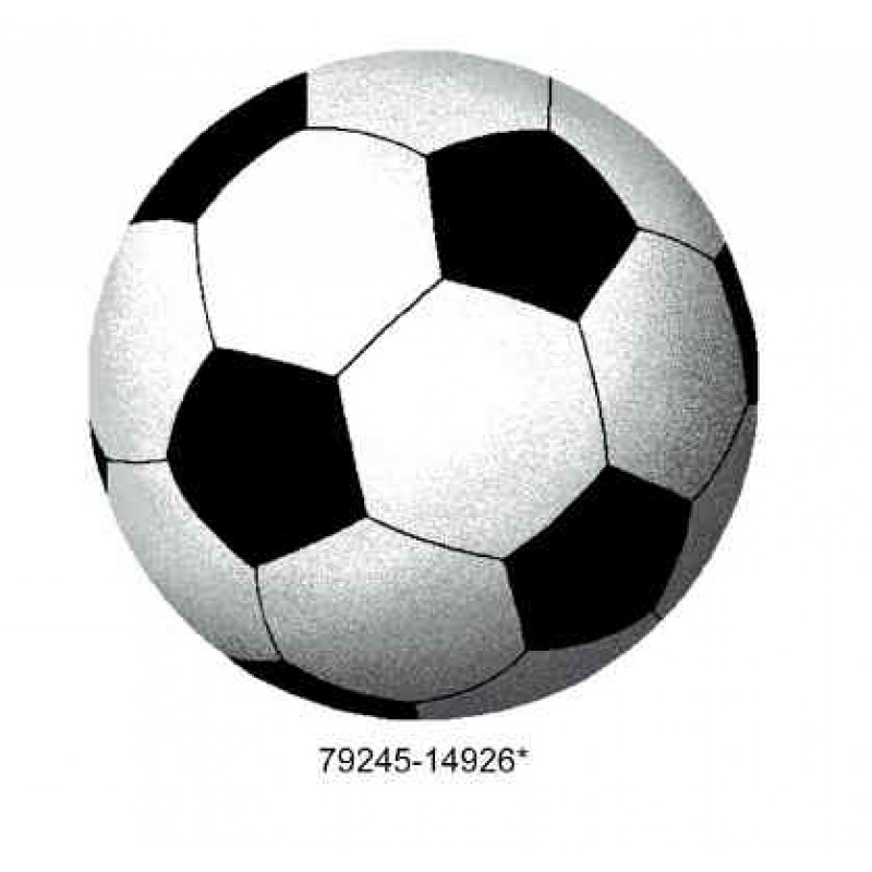 Covoras camera copii Davo Pro Fotbal  nylon shape  alb si negru 65x65cm cod 33020