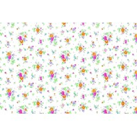Autocolant d-c-fix Floricele pe fond alb 45cm x 2m cod 346-0193