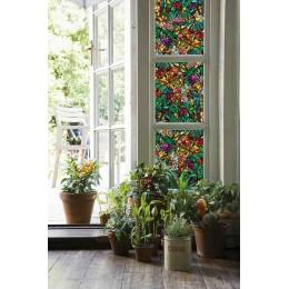 Autocolant d-c-fix vitraliu Flori Multicolore Tulia 45cmx2m cod 346-0647