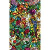 Autocolant d-c-fix vitraliu Flori Multicolore Tulia 45cm x2m cod 346-0647