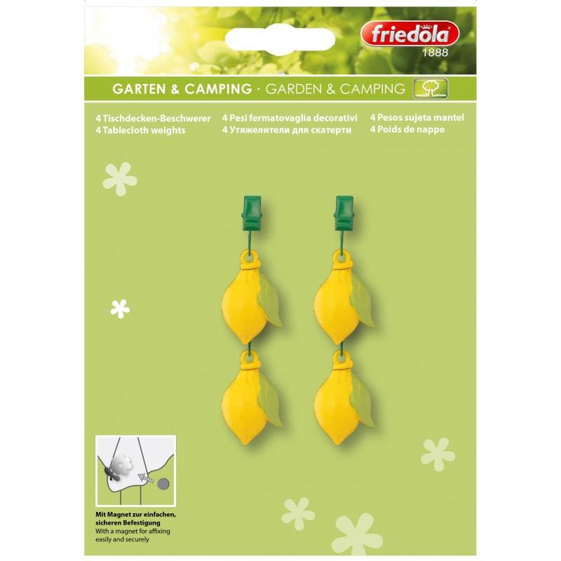 Set greutati pentru fata de masa Friedola Lemon 50x150cm / 4 buc /set cod 65500.7