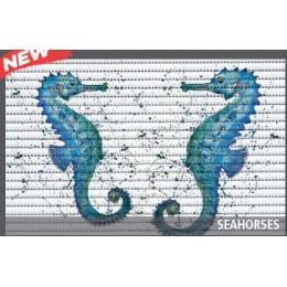 Covoras baie Friedola Seahorses antiderapant model marin dreptunghiular din spuma PVC 48x80cm cod 77721.1