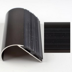 Profil aluminiu pentru treapta curbat antiderapant bronz 2109 (38x50.85mm)x300cm-  cod 42174