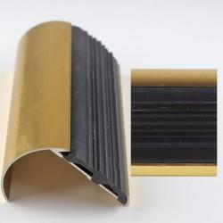 Profil aluminiu pentru treapta curbat antiderapant auriu (gold) 2109 (38x50.85mm)x100cm- 5 buc cod 42169