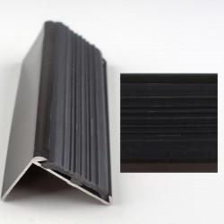 Profil aluminiu coltar treapta cu cauciuc antiderapant bronz 2120 (30x42mm) x300cm- 5 buc  cod 42006