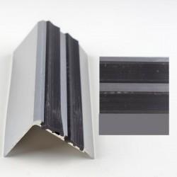 Profil aluminiu coltar treapta cu banda dubla de cauciuc Argintiu (Silver) 2150 (38mmx300cm)- 5 buc cod 42122