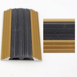 Profil drept pentru treapta cu banda de cauciuc Auriu  (Gold) 2151 (47 mmx100cm)- 10 buc cod 42124