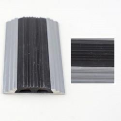 Profil aluminiu drept pentru treapta cu banda de cauciuc Argintiu (Silver) 2151 (47mmx300cm)- 5 buc cod 42125