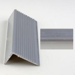 Profil aluminiu coltar treapta antiderapant cu rizuri argintiu (silver) 2394 (22.5x40 mm) x100cm- 5 buc cod  42018