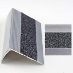 Profil aluminiu pentru treapta cu banda antiderapanta argintiu (silver) 2853 (23x53mm) x300cm- 5 buc cod  42166