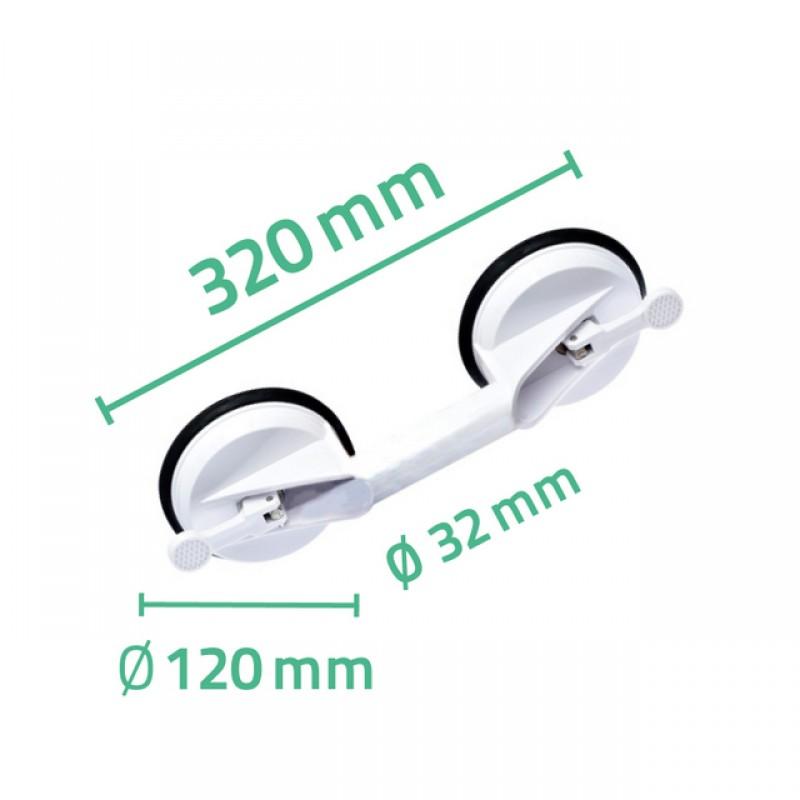 Maner calatorie 2 ventuze (Sustine Max 70 kg) A0150201 cod 38000