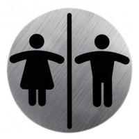 Semn metalic wc cromat pentru doamne/domni 13530300 Cod 38109
