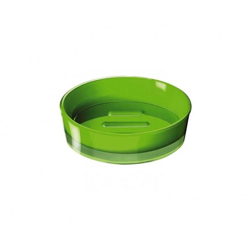 Sapuniera Ridder Disco verde acrilic lucios cod 38078