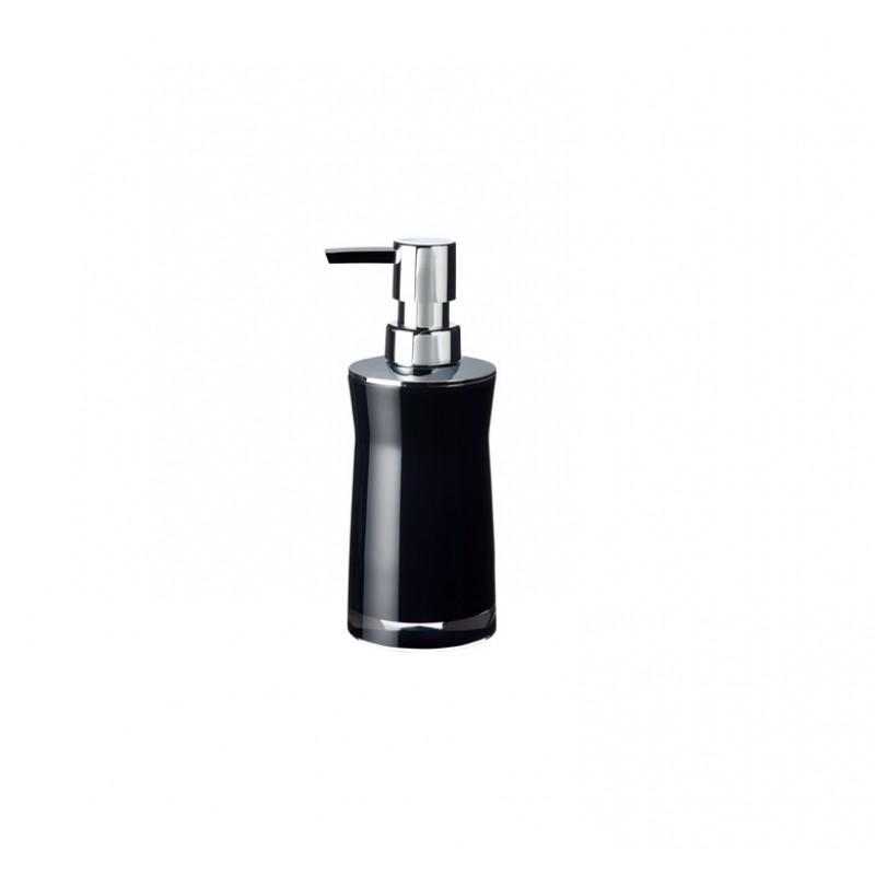 Dozator sapun lichid Ridder Disco negru acrilic lucios 210 ml  cod 38091