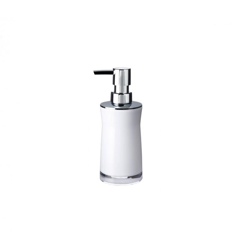 Dozator sapun lichid Ridder Disco alb acrilic lucios 210 ml  cod 38087