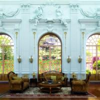 Autocolant d-c-fix vitraliu Flori bej 67.5 x 15m cod 200-8191