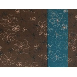 Saltea Pilates gri cu albastru si flori albe Friedola 60x180x0.4 cm 100% polyester moale cod 74071