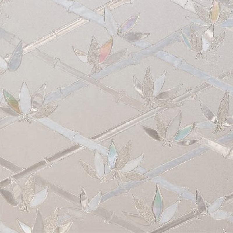 Autocolant Gekkofix Static 3D Transparent Bambus cu reflexii colorate la lumina 45cmx1.5m cod 10249 davopro 2021