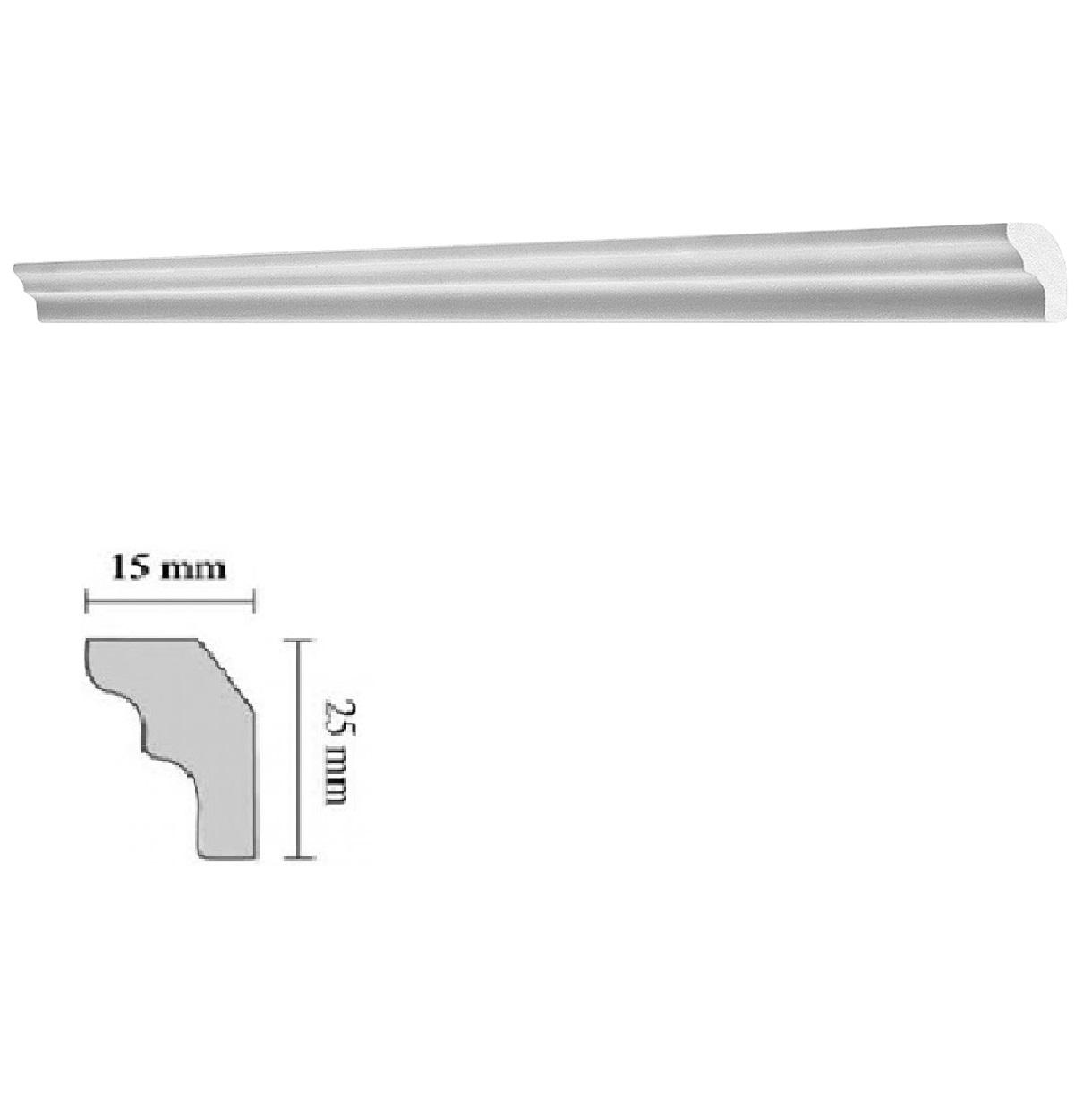 Baghete decorative Decosa- E25 (15x25mm)x176buc cod 13044 2021 davopro.ro