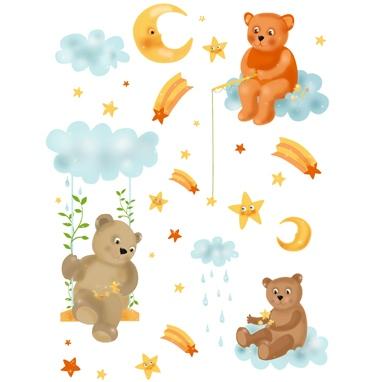 Sticker D-c-fix Pentru Copii - Ursuleti  Norisori  Stelute 65 X 85cm
