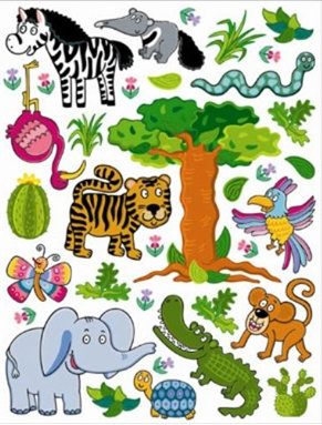 Sticker D-c-fix Pentru Copii -minifun Animale Jungla 65 X 85cm