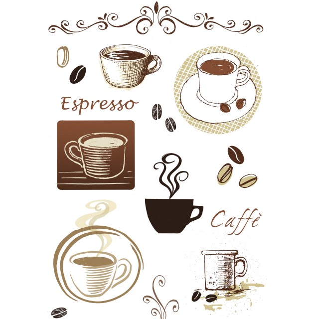 Sticker Friedola Cafe (2 Bucati/ Set) 45 X 65cm