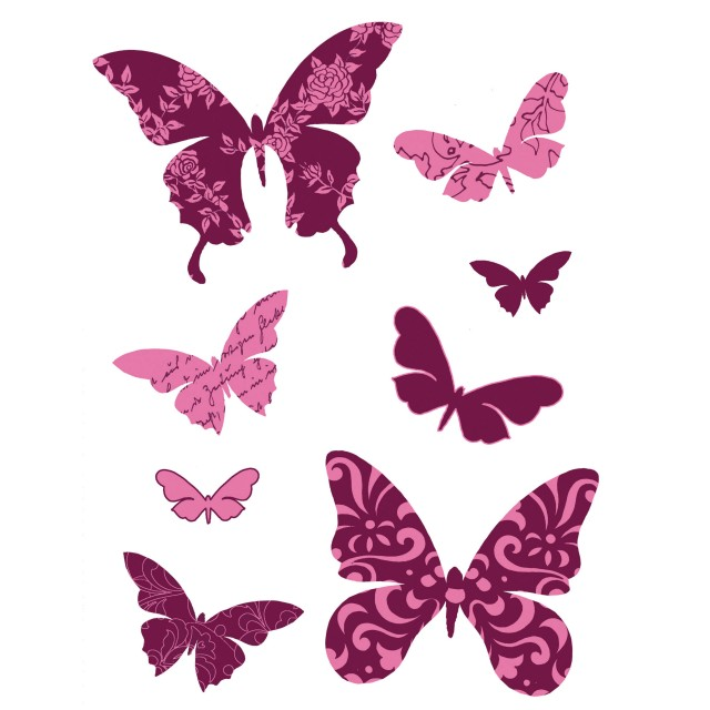 Sticker Friedola Butterfly (2 Bucati/ Set) 45 X 65cm