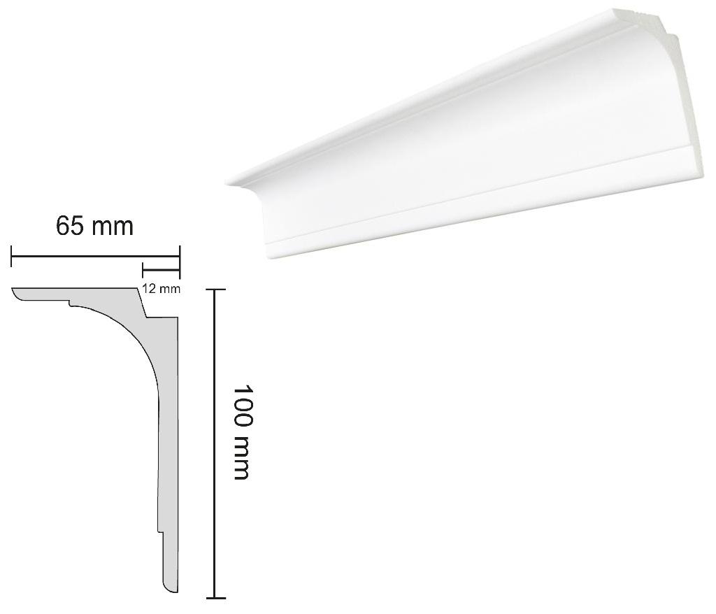 Baghete Decorative Decosa Multifunctionale compatibile LED - L100 (65x100mm)x25buc cod 13105 davopro 2021