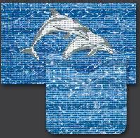 Set Pt Baie- 2 Covorase Delfini (80x48 Cm + 48x48