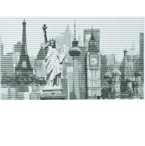 Covoras universal Cities, 48x80 cm, cod 77749
