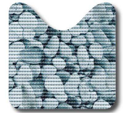 Set pt baie- 2 covorase Stones (80x48 cm + 48x48 cm), cod 79603
