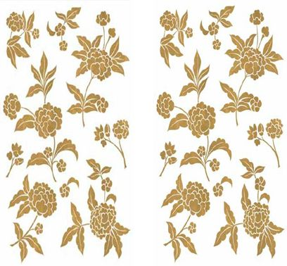 Sticker Friedola Gold Flower (2 Bucati/ Set) 45 X 65cm