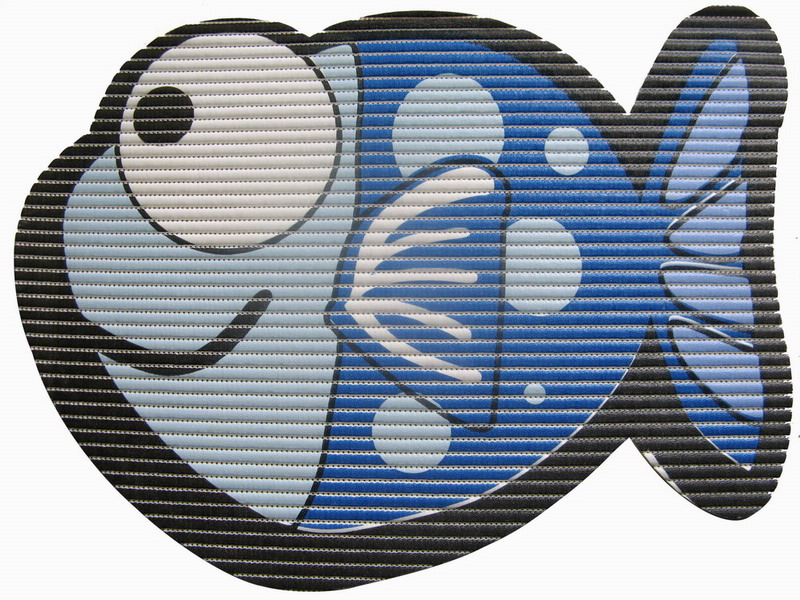 Covoras Uwin Big Eye Fish Blue 65x50cm
