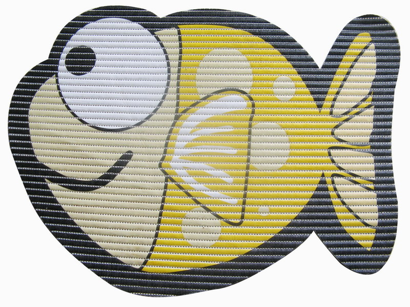 Covoras Uwin Big Eye Fish Yellow65x50cm